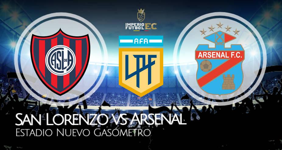 San Lorenzo vs Arsenal EN VIVO Canales TV dónde ver Copa de la Liga