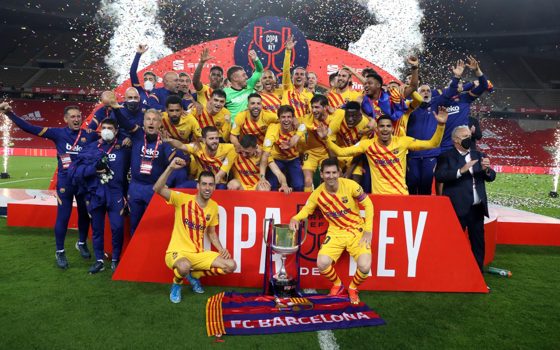 FC Barcelona se proclamó campeón de la Copa del Rey con una goleada ante Athletic Bilbao