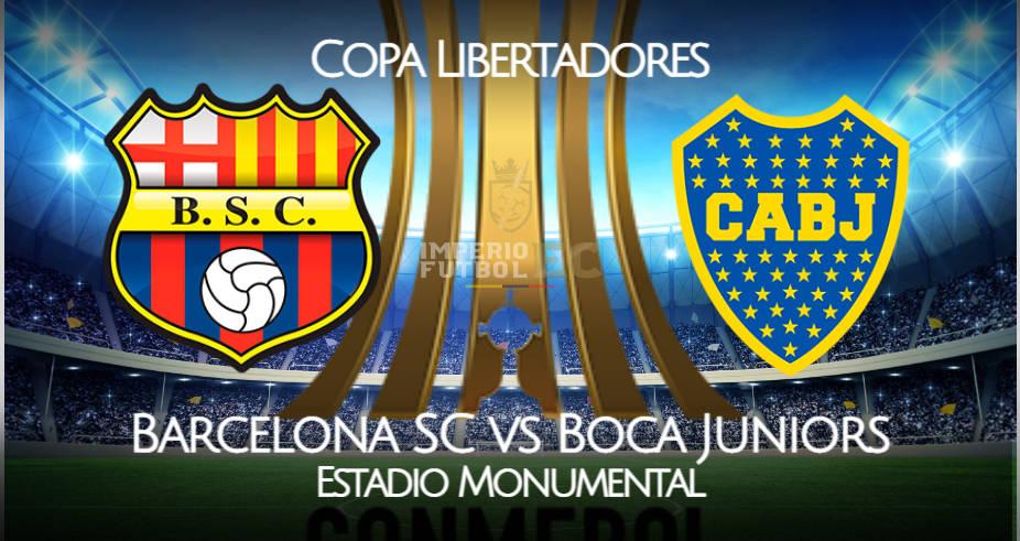 Barcelona SC vs Boca Juniors EN VIVO ESPN por la Copa Libertadores 2021 desde el Estadio Monumental Banco Pichincha