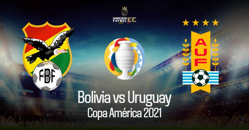 VER BOLIVIA– URUGUAY EN VIVO GRUPO A COPA AMÉRICA 2021