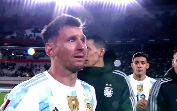 Lionel Messi lagrimas