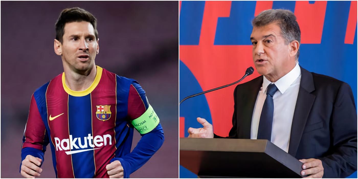 Joan Laporta reveló que tenía la esperanza de que Messi jugar gratis en Barcelona